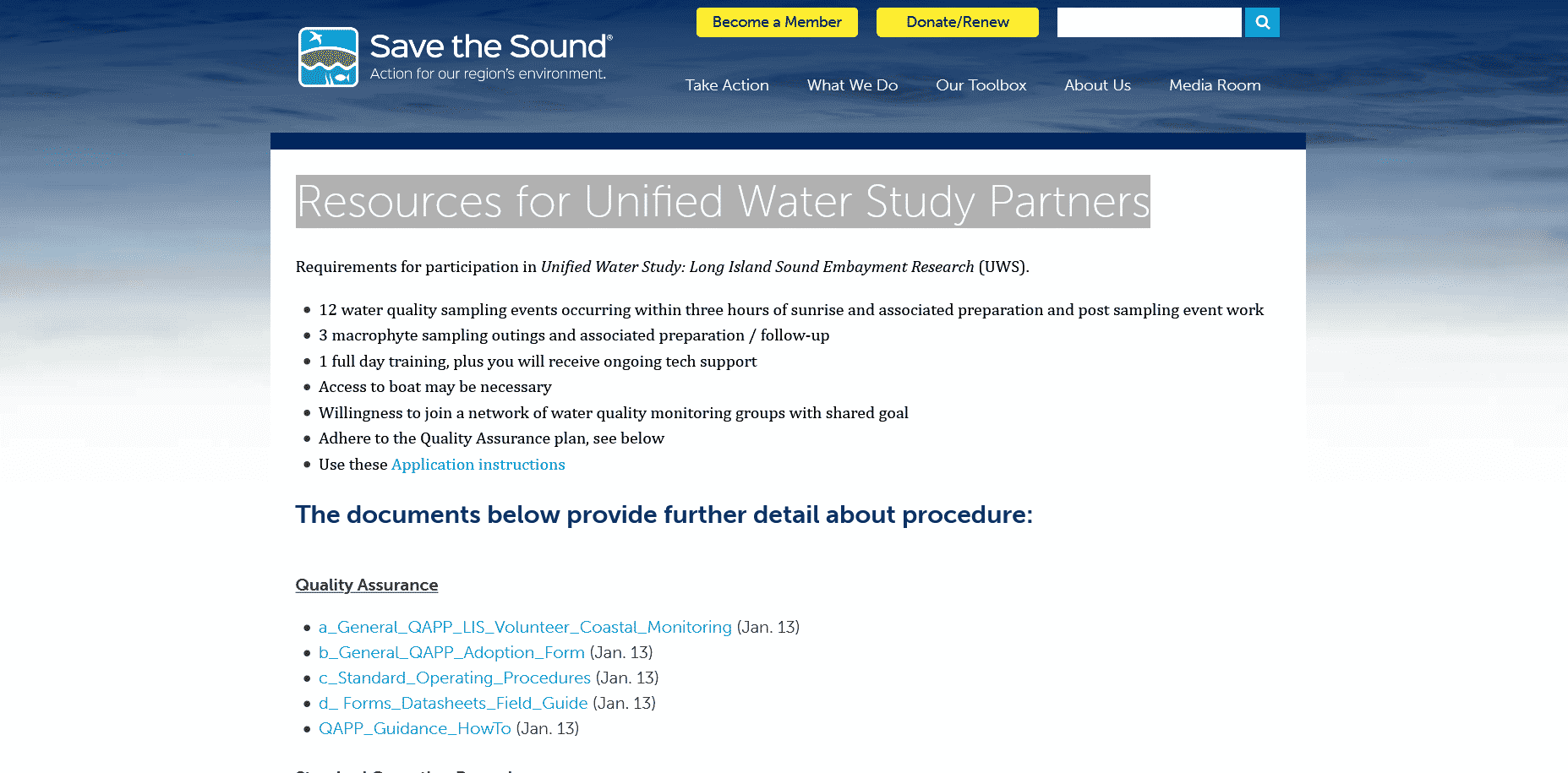Resources for Unified Water Study Partners